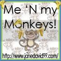 Me N my Monkeys Button